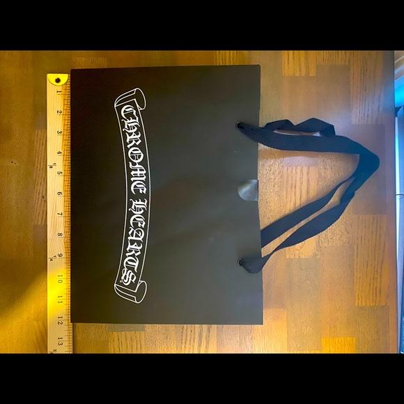 Chrome Hearts black and white shopping bag